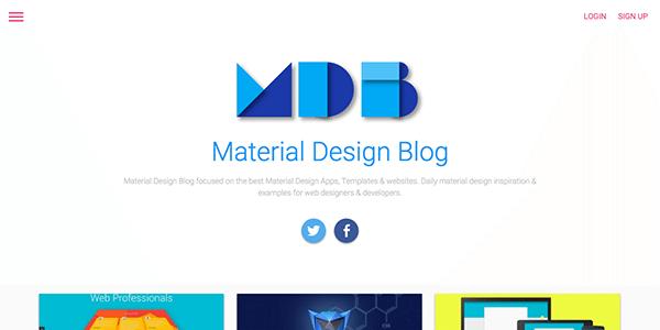 Material-Design-Blog