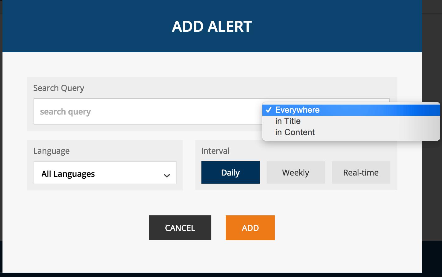 Ahrefs Content Alerts